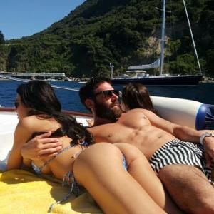 Dan Bilzerian on boat
